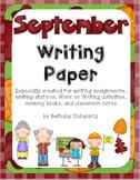 September Writing Paper