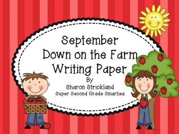 September Writing Paper-Farm Themed
