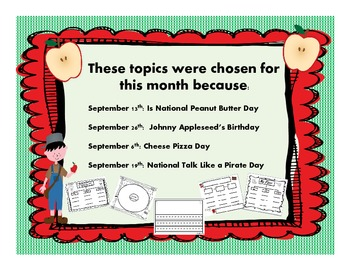 September Writing Projects