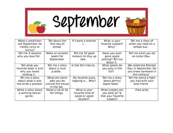 September Writing Prompt