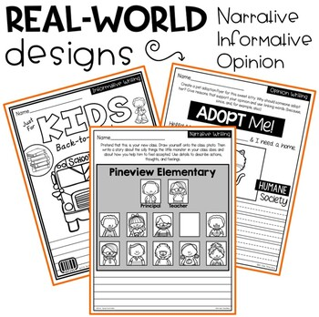 September Writing Prompts | Real-World and Draw & Write Formats