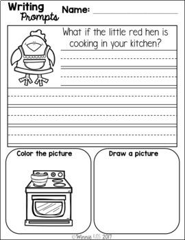 Kindergarten September Writing Prompts