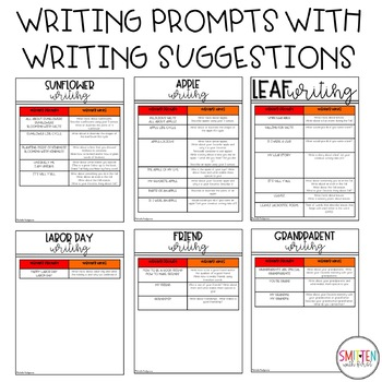 September Writing Prompts | Back to School Activities | Apple Writing