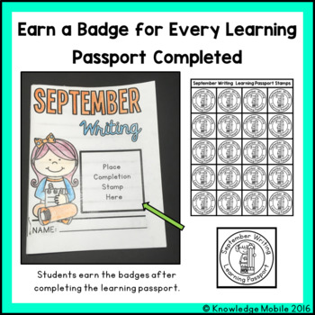 September Writing Prompts - Learning Passport