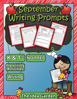 September Writing Prompts NO PREP (Kindergarten and First)