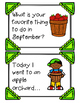 September Writing Prompts, Pages and Vocabulary Cards