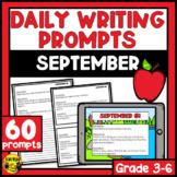 September Writing Prompts | Paper or Digital