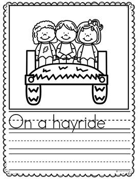 Preschool Writing Prompts September