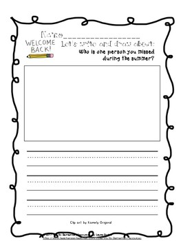 September Writing Prompts (Primary Grades!)