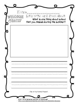 September Writing Prompts for Primary Grades! {Print and Go!}