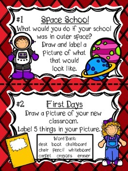 September Writing Prompts and Center (CCSS Aligned)