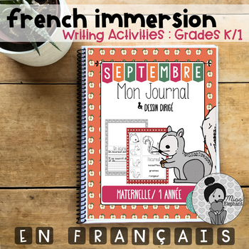 September Writing Prompts and Directed Drawings FRENCH