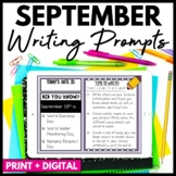 September Writing Prompts and Journal