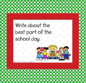 September Writing Prompts for Interactive Whiteboard and Literacy Centers