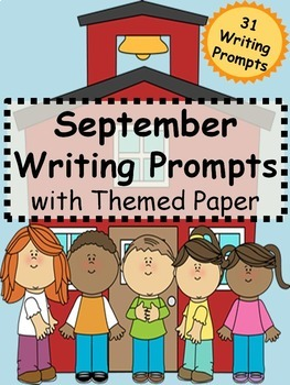 September Writing Prompts on Themed Paper {Just Print & Go!}