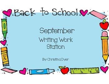 September Writing Station
