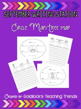 September Writing Station Circle Maps/Tree Map BUNDLE