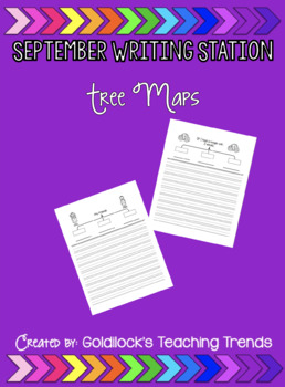 September Writing Station Tree Maps