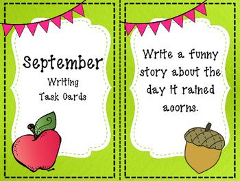 September Writing Task Cards