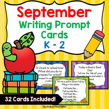 September Writing Task Cards K -2