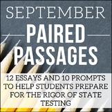 September Writing Test Prep & ELA Paired Passages for Uppe