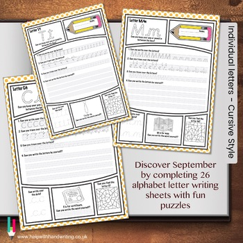 September alphabet worksheets
