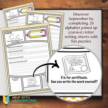 September alphabet worksheets