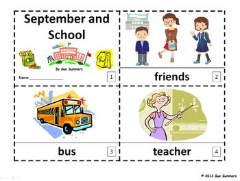 September and School Emergent Reader 2 Booklets in English