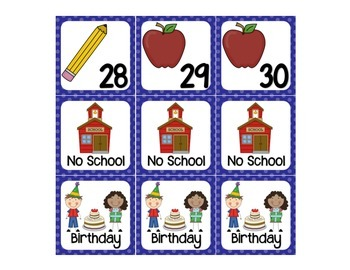 September calendar days