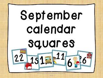 September calendar squares