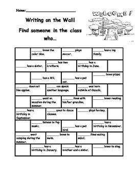 September class activity