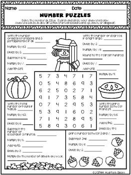 September in Fifth Grade (NO PREP Math and ELA Packet)