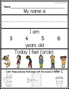 DISTANCE LEARNING:September is for Preschoolers and Literacy Bundle (PreK & Kdg)