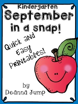September in a Snap: No Prep Printables for Math and Literacy