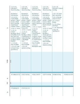 September lesson plans