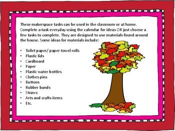 September makerspace task cards