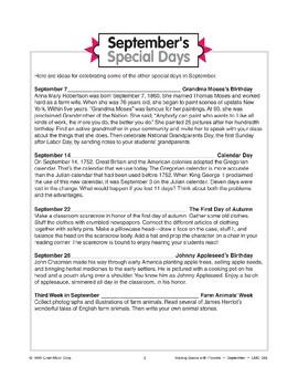 September's Special Days