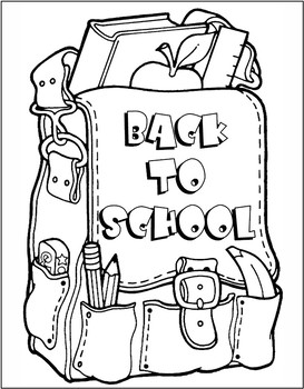 September theme coloring page