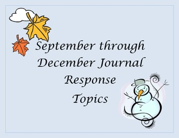 September through December Journals