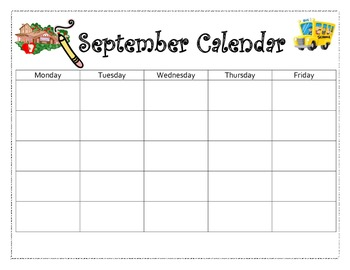 September to June Calendar Template Package