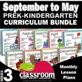 Preschool Pre-K Kindergarten Curriculum Bundle [9 Months]