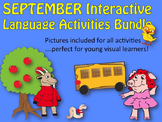 September/Back to School Interactive Activities bundle