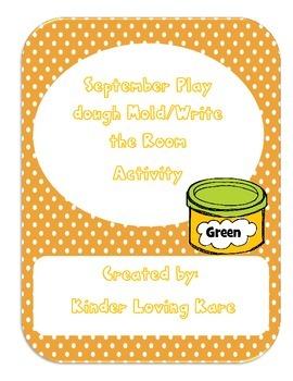 September/October Playdough mat and Write the Room
