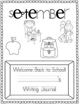 September Back to School Writing Journal