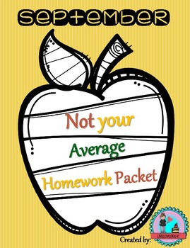 Septembers Not Your Average Homework Packet