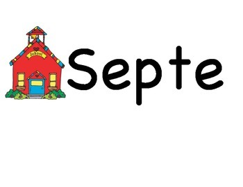 September Calendar for Pocket Chart (Lakeshore)