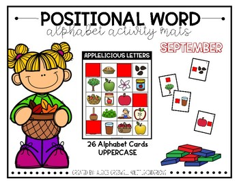 September Positional Words: Lowercase Letters