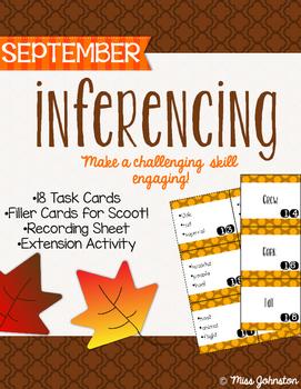 September Inferencing Task Cards