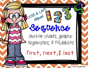 Sequence #2 Graphic Organizers, Anchor Chart Poster/Signs, & Foldables