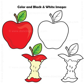 Sequence Clip Art: Apple to Apple Core